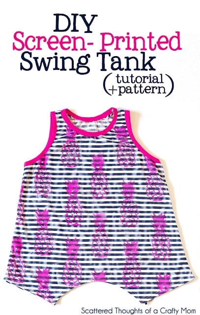 Free Swing Tank sewing pattern for girls. (size 3 to 8)
