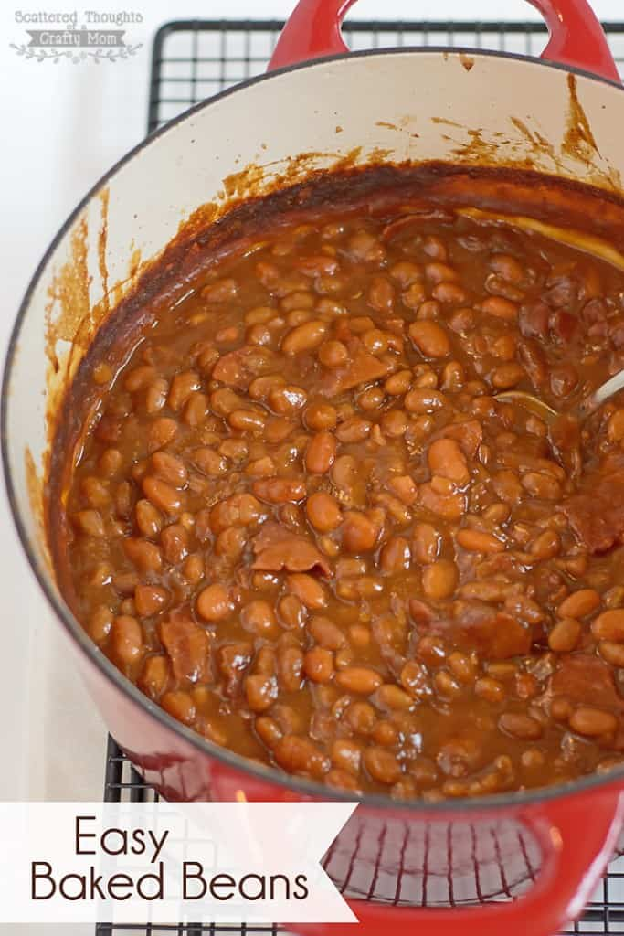Easy Baked Beans recipe with a secret ingredient that makes the beans extra yummy! #beans