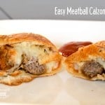 Easy Meatball Calzones