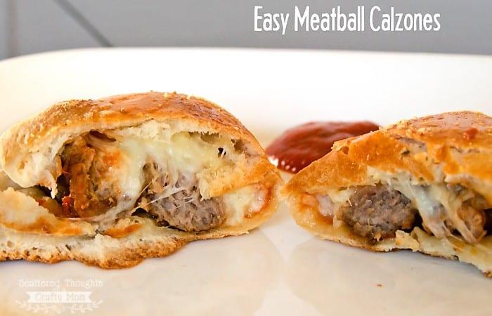 Easy Meatball Calzones