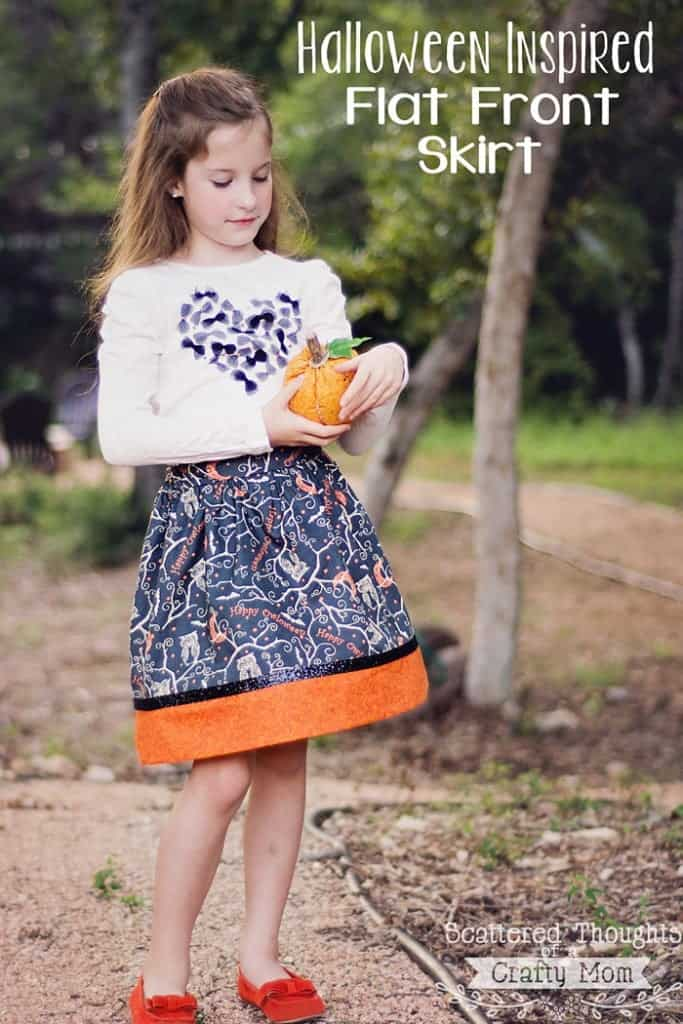 Sewing skirts for Halloween!