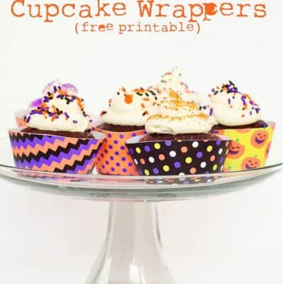 Halloween Cupcake Wrappers (free Printable)