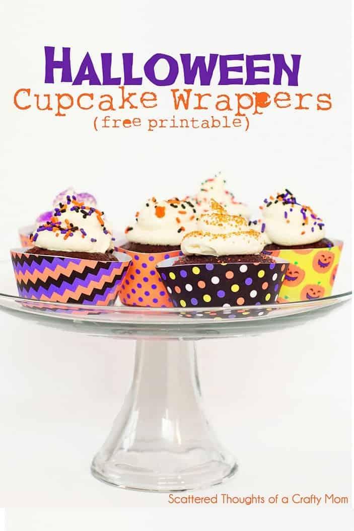 Halloween Cupcake Wrappers (free printable)