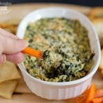 Baked Spinach and Artichoke Dip- Lightened up