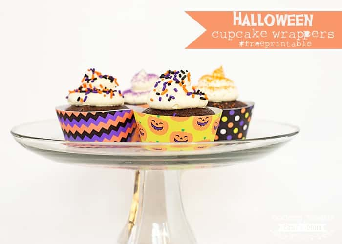 Halloween Cupcake Wrappers. Free printable.