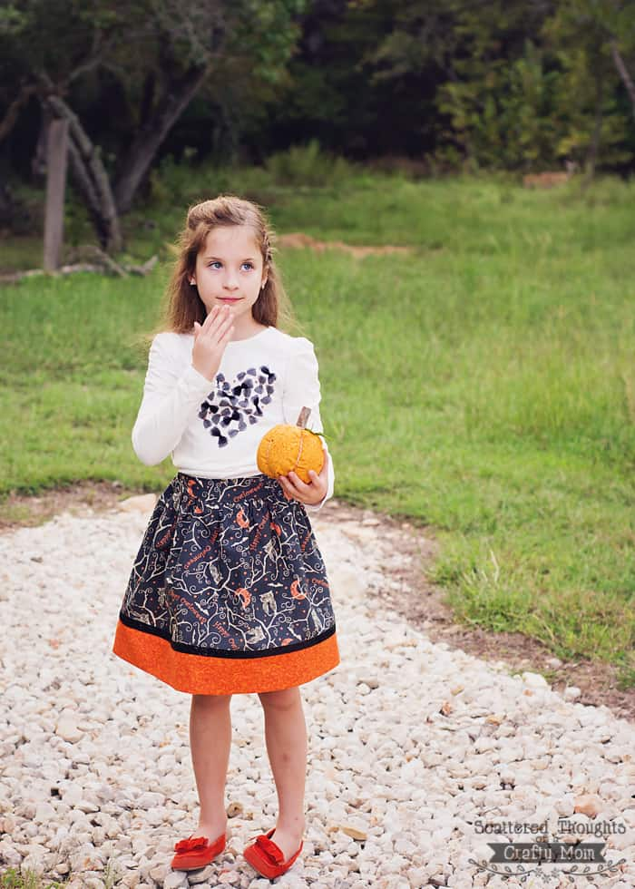 halloween flat front skirt