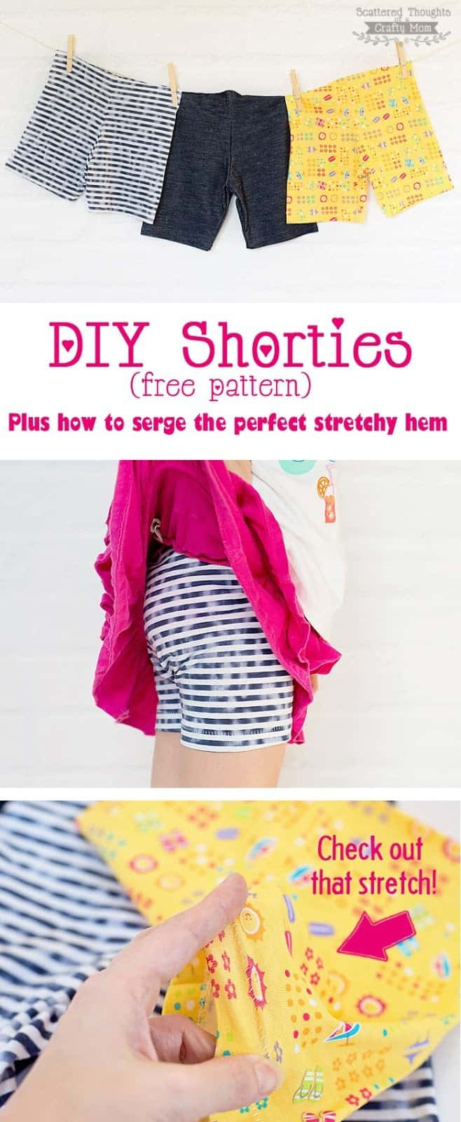 Free Shortie Pattern How To Serge A Stretchy Hem Using