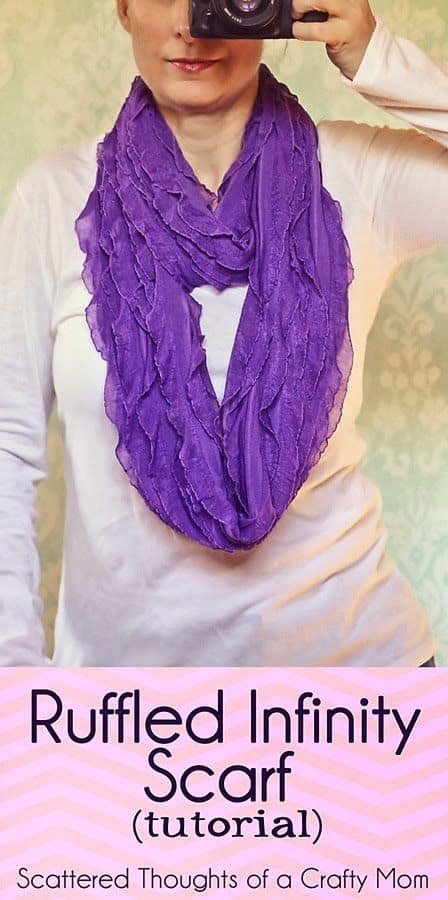 ruffle fabric scarf tutorial