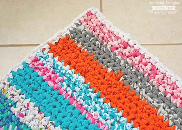 How To Crochet A Rag Rug With Fabric Scraps Scattered Thoughts Of Beauteous Crochet Rag Rug Patterns