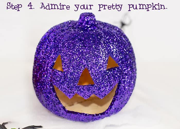 DIY Glitter Pumpkins #trickyourpumpkins
