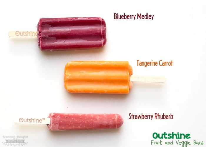 Healthy Snacking- Outshine Fruit and Veggie Frozen Treats