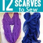 12 Adorable Scarves to Sew for Winter and Fall