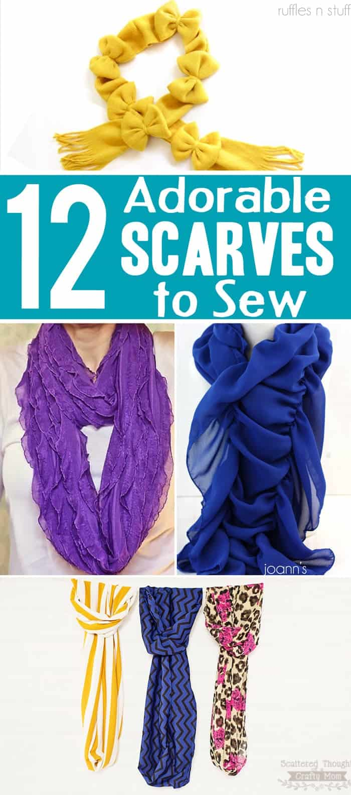 12 Adorable Scarves to Sew for Fall and Winter