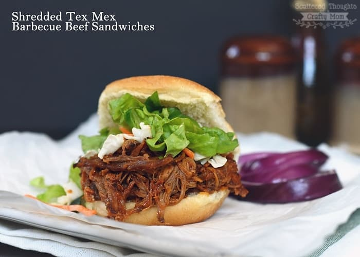 Slow Cooker Tex-Mex Barbecue Beef Sliders