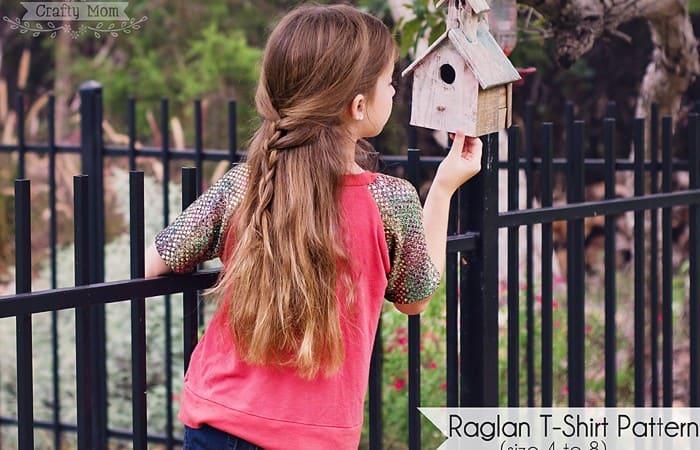 Blinged-Out Raglan Tee (free pattern)