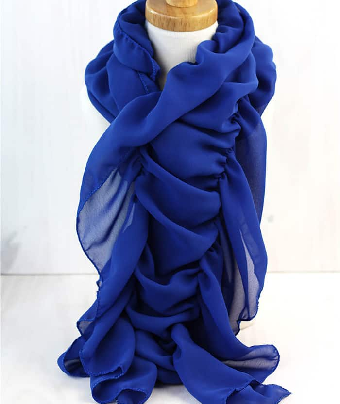 gathered scarf tutorial
