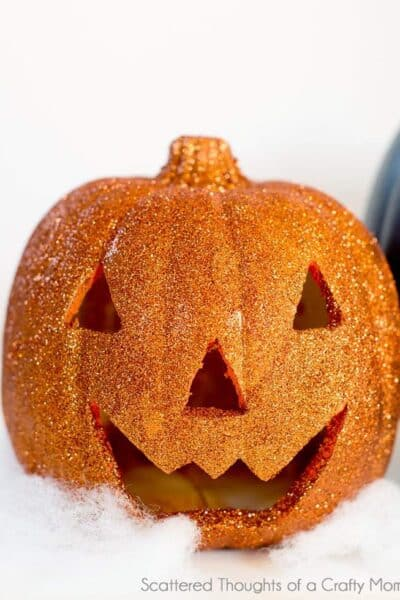 How to make Glitter Pumpkins