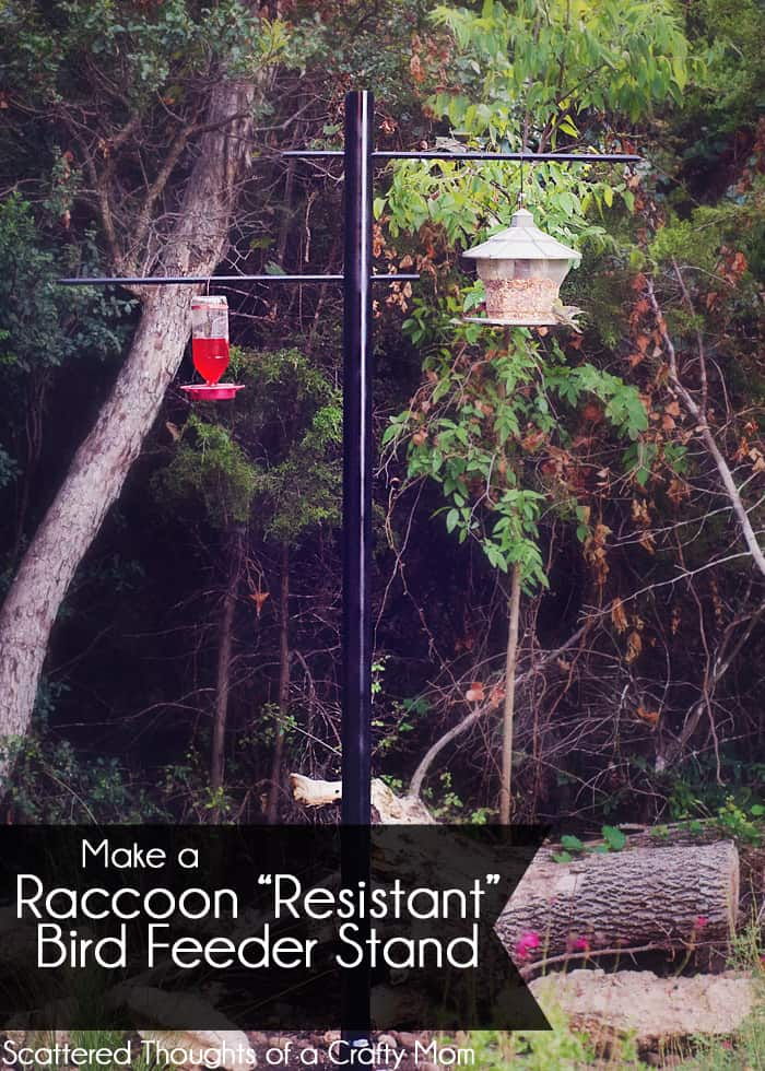"How to make a Raccoon ""Resistant"" Bird Feeder stand."