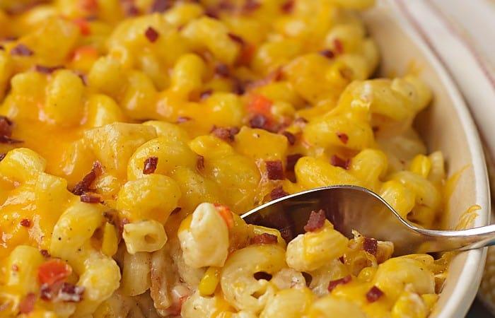 Cheesy Baked Potato Mac and Cheese