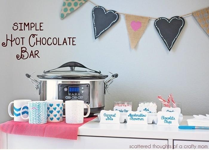 Easy DIY Hot Chocolate Bar