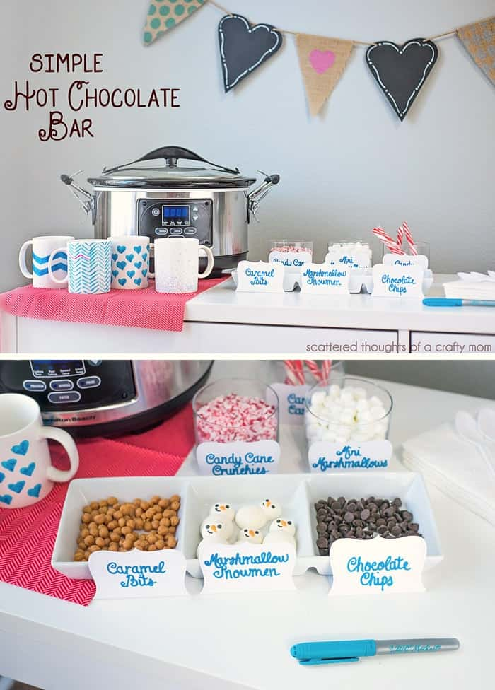 Simple ideas and tips to make your own DIY Hot Chocolate Bar.