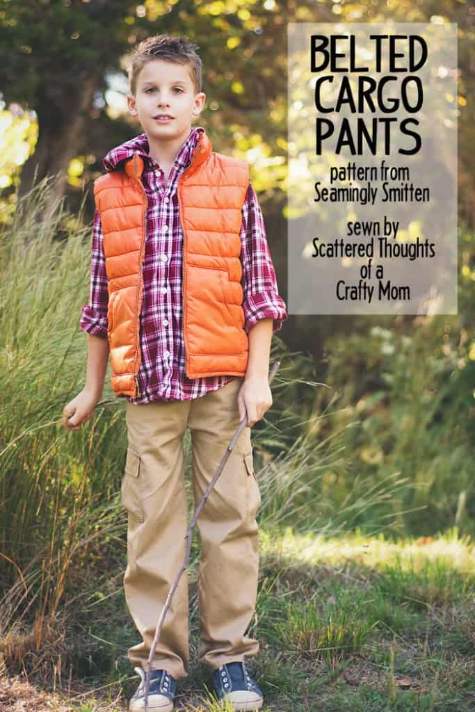 It is so hard to find good stuff to sew for boys. Definitely need to add this super easy Belted Cargo Pattern to the to do list!