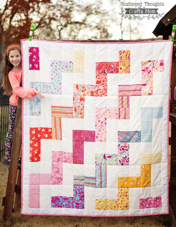 how to make a chevron quilt, free pattern