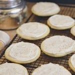 Sugar Cookies with Eggnog Frosting