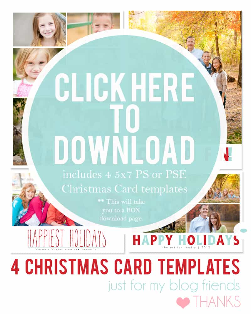 DIY Holiday Postcards + 14 Free Holiday Card Templates - Scattered ...
