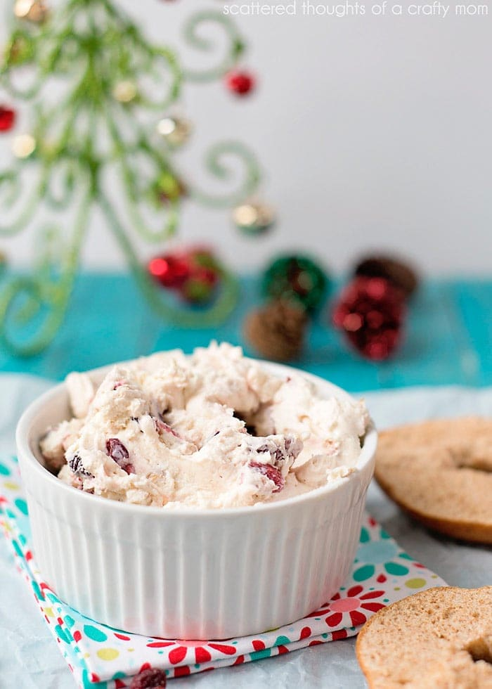 cranberry and walnut cream cheese