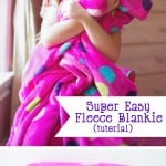 Easy Fleece Blanket Tutorial