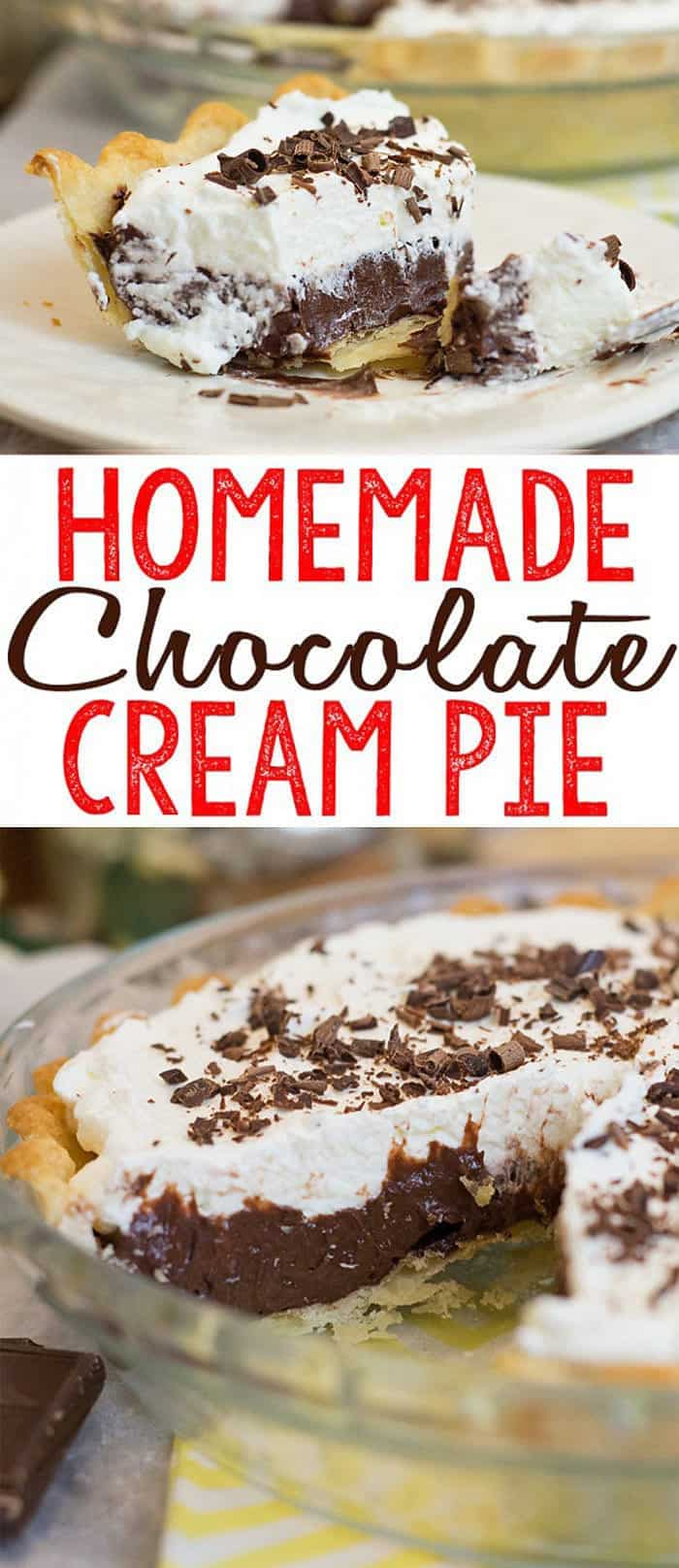 I love a good Chocolate Cream Pie, don't you?.  So luscious, creamy and chocolatey... This Homemade Chocolate Cream Pie recipe is surprisingly easy to make and I think you'll agree, this might be the best Chocolate Cream pie ever.