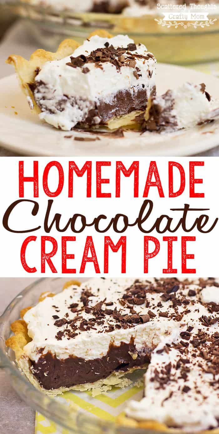 This Homemade Chocolate Cream Pie