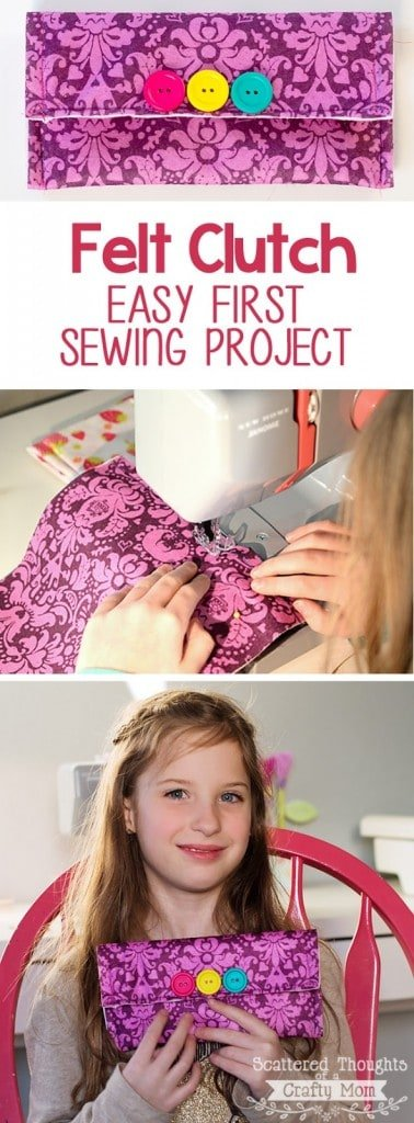 This easy Felt Clutch Purse is a great first project for any beginning sewist!