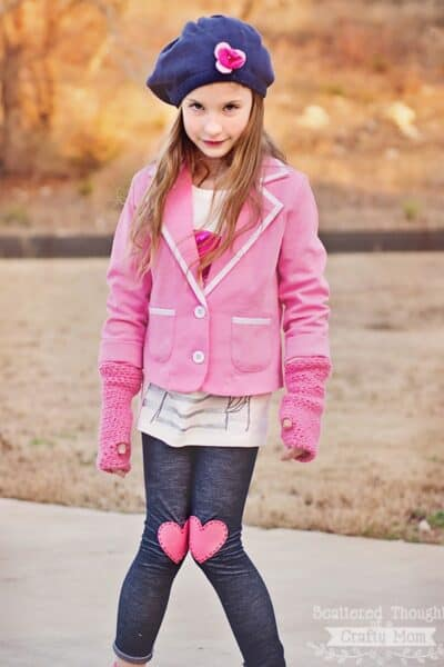 How to make Heart Appliqued Leggings