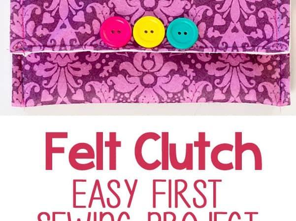 Easy Felt Clutch: Beginner Sewing Project