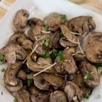 Baked Mushrooms- a Light and Easy Side Dish