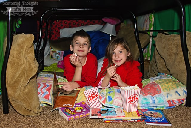 pop secret popcorn and pillow forts!