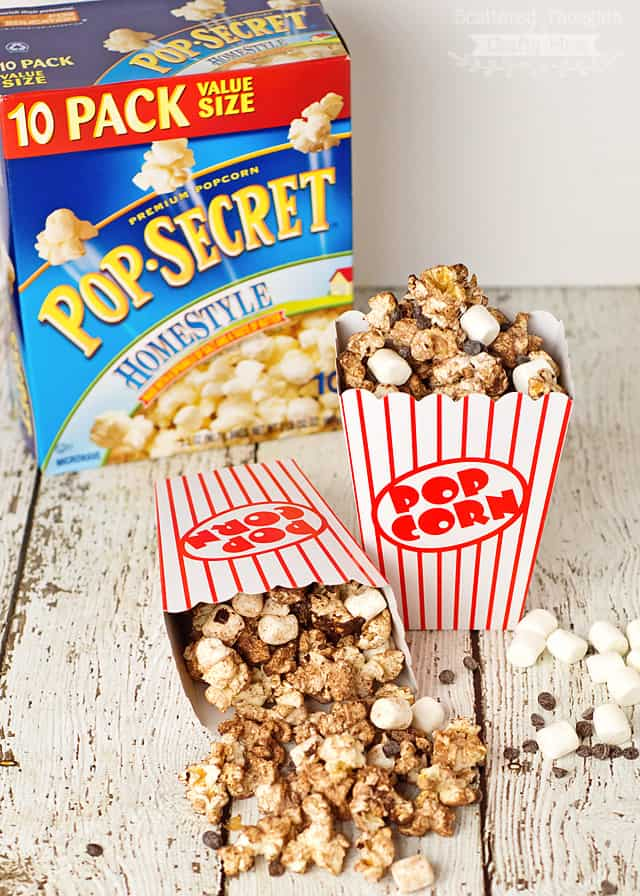 salty and sweet chocolate and marshmallow popcorn recipe