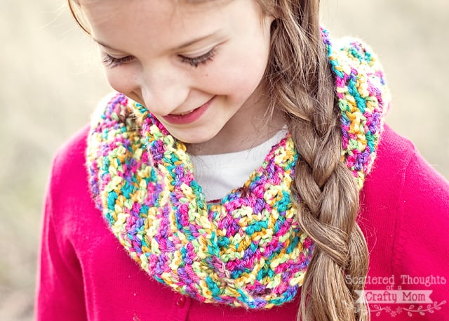 how to make a double crochet cowl
