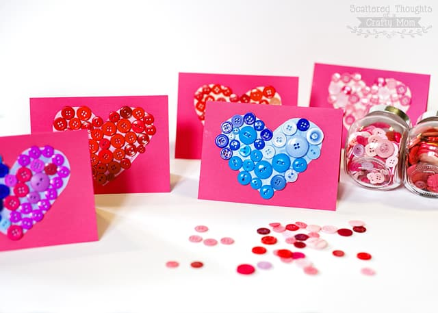 button valentines day cards