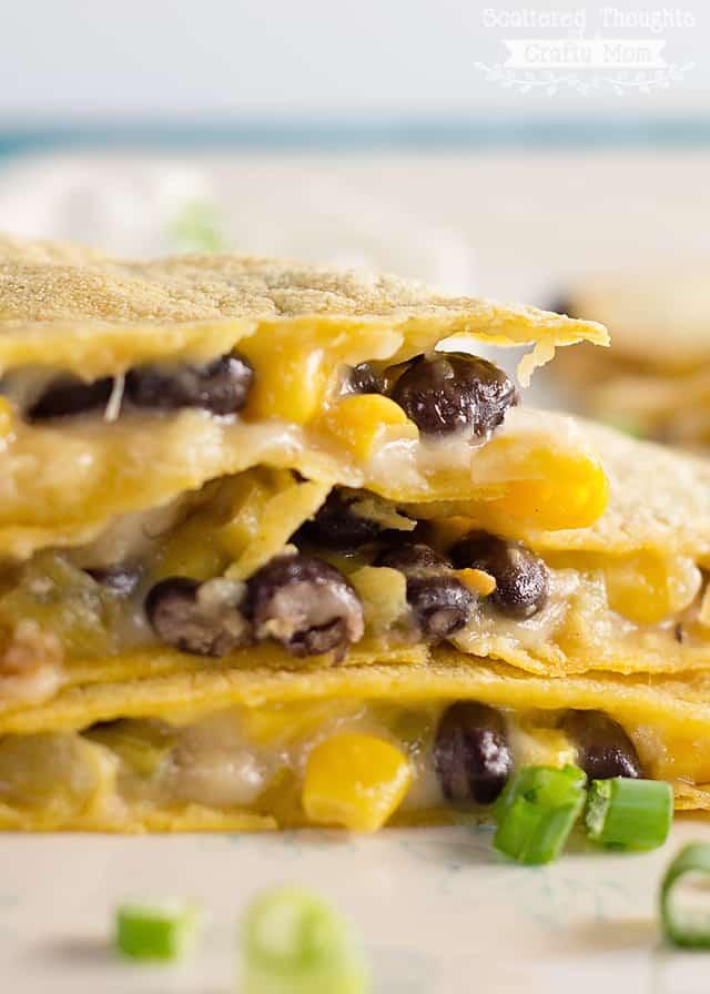 quick dinner ideas: Baked quesadillas