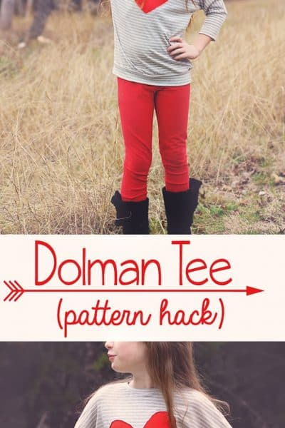 Dolman Heart Tee (pattern hack)
