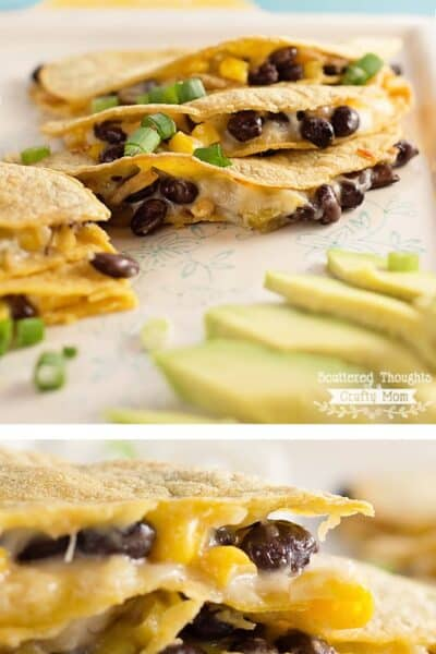 Baked Cheese and Black Bean Quesadillas