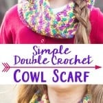 Simple Double Crochet Cowl Scarf w/ Double Crochet Video Tutorial