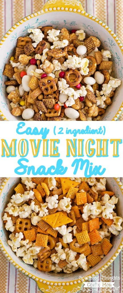Easy shortcut recipe for a yummy movie night (or any night) treat!