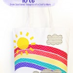 No Sew Rainbow Tote Tutorial