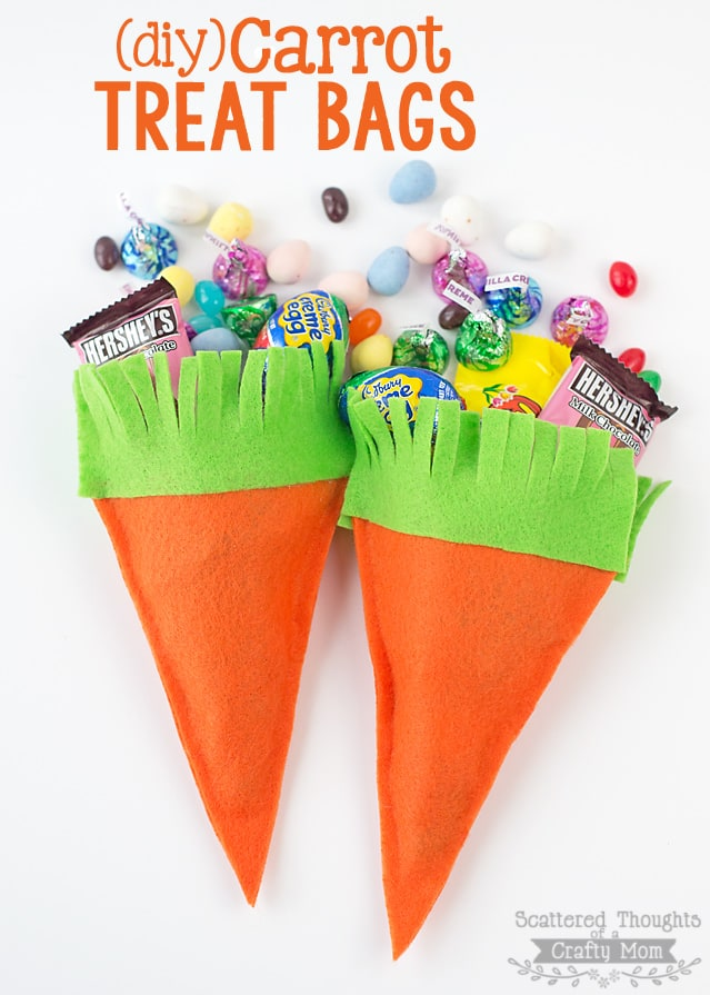 Make these darling DIY Carrot Treat Bags!  They are perfect for you Spring or Easter.