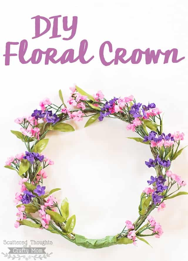 Diy Floral Crown Scattered Thoughts Of A Crafty Mom By