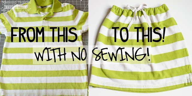make a no-sew skirt
